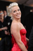 Singer Pink attends the 56th GRAMMY Awards at Staples Center on January 26 2014 in Los Angeles California