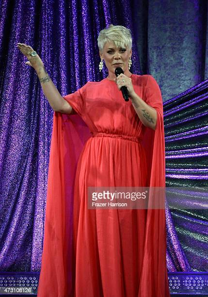 Singer Pink performs on stage at the 63rd Annual BMI Pop Awards show at Regent Beverly Wilshire Hotel on May 12 2015 in Beverly Hills California