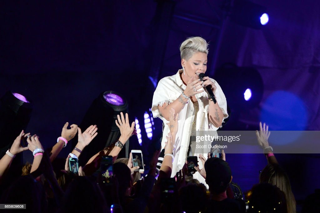 Singer Pink performs onstage during the 5th annual 'We Can Survive' benefit concert presented by CBS Radio at the Hollywood Bowl on October 21, 2017 in Hollywood, California.