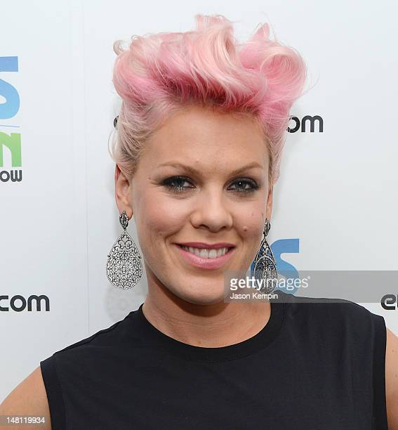 Singer Pink visits The Elvis Duran Z100 Morning Show at the Z100 Studio on July 9 2012 in New York City