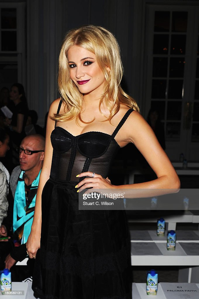 Singer <a gi-track='captionPersonalityLinkClicked' href=/galleries/search?phrase=Pixie+Lott&family=editorial&specificpeople=5591168 ng-click='$event.stopPropagation()'>Pixie Lott</a> attends the Temperley London show during London Fashion Week SS14 at The Savoy Hotel on September 15, 2013 in London, England.