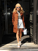 Singer Pixie Lott is pictured leaving BBC Radio 2 on April 20 2015 in London England