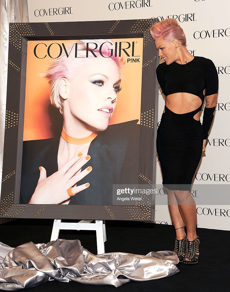 Singer P!nk is announced as the newest face of COVERGIRL Cosmetics at Shutters On The Beach on August 6, 2012 in Santa Monica, California.