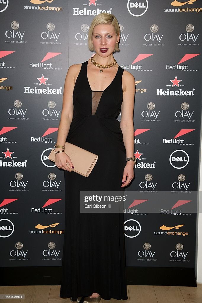Singer Polina attends The Grammy Awards Red Light Management After Party at Sky Bar, Mondrian Hotel on January 26, 2014 in West Hollywood, California.