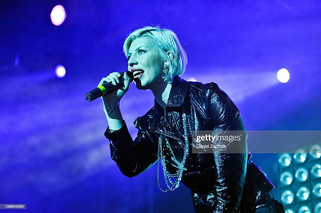 Singer Polina performs at Jacked New Year's Eve 2013 at Pier 94 on December 31, 2012 in New York City.