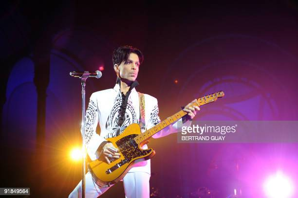 US singer Prince performs on October 11 2009 at the Grand Palais in Paris Prince has decided to give two extra concerts at the Grand Palais titled...