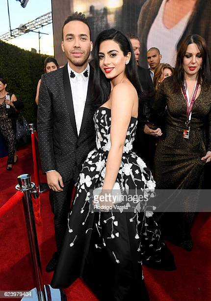 Singer Prince Royce and actress Emeraude Toubia attend The 17th Annual Latin Grammy Awards at TMobile Arena on November 17 2016 in Las Vegas Nevada