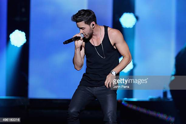 Singer Prince Royce performs onstage at iHeartRadio Fiesta Latina presented by Sprint at American Airlines Arena on November 7 2015 in Miami Florida