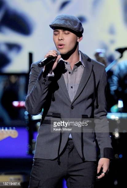 Singer Prince Royce performs onstage during the 12th annual Latin GRAMMY Awards at the Mandalay Bay Events Center on November 10 2011 in Las Vegas...