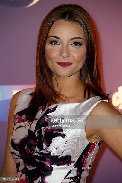 Singer Priscilla Betti attends the 'Danse Avec Les Stars 2015' Photocall At TF1 on October 7 2015 in Paris France