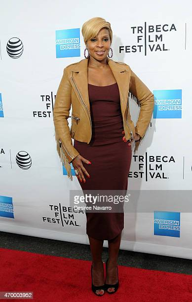 Singer/ producer Mary J Blige attends the world premiere of the documentary 'Mary J Blige The London Sessions' during the 2015 Tribeca Film Festival...