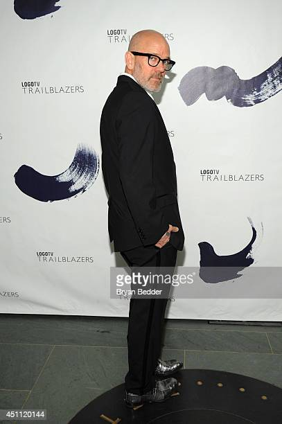 Singer producer Michael Stipe attends Logo TV's 'Trailblazers' at the Cathedral of St John the Divine on June 23 2014 in New York City