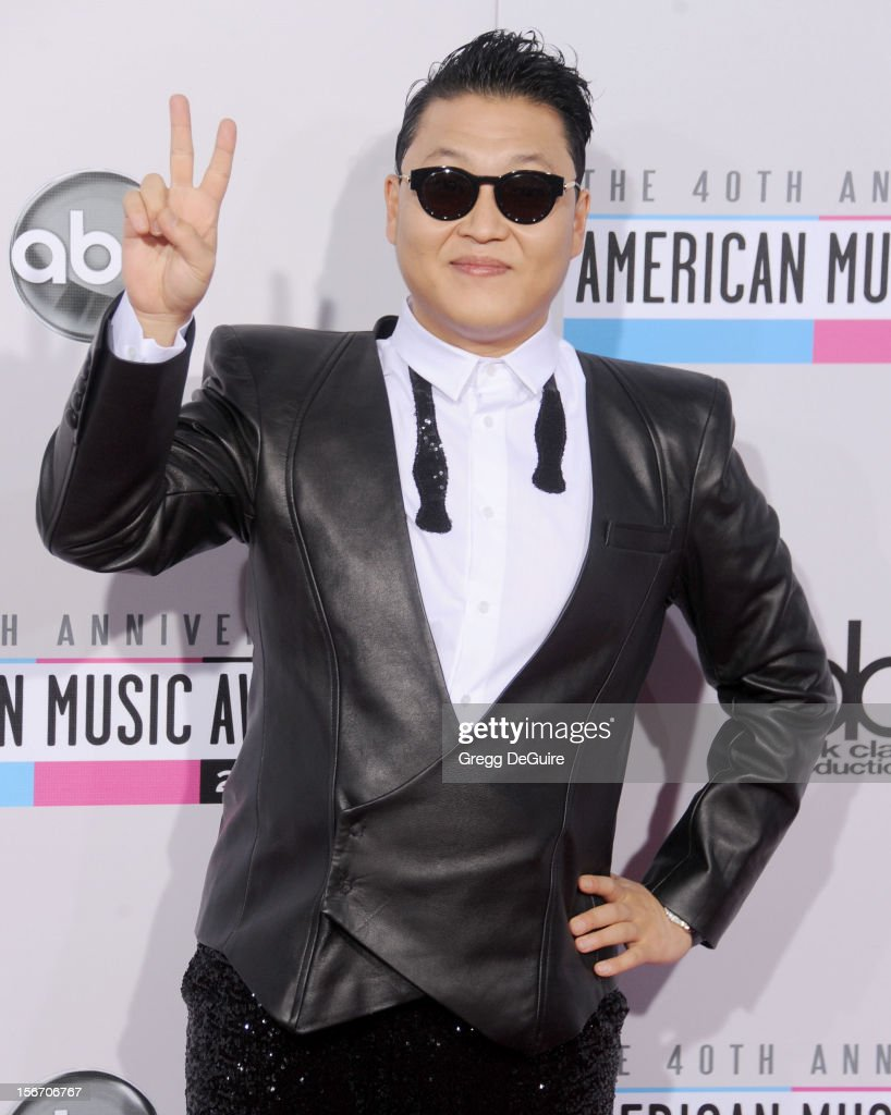 Singer PSY arrives at the 40th Anniversary American Music Awards at Nokia Theatre L.A. Live on November 18, 2012 in Los Angeles, California.