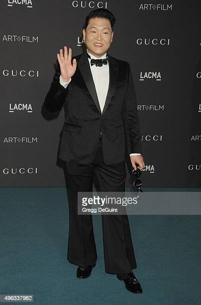 Singer PSY arrives at the LACMA 2015 ArtFilm Gala Honoring James Turrell And Alejandro G Inarritu Presented By Gucci at LACMA on November 7 2015 in...