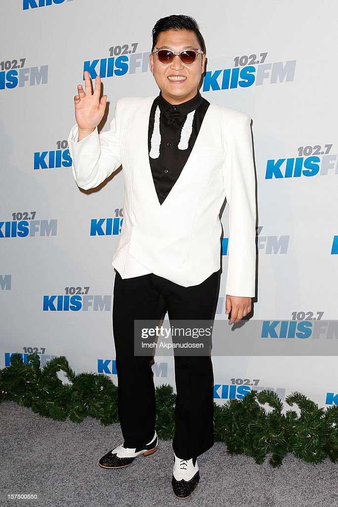 Singer PSY attends KIIS FM's 2012 Jingle Ball at Nokia Theatre L.A. Live on December 3, 2012 in Los Angeles, California.