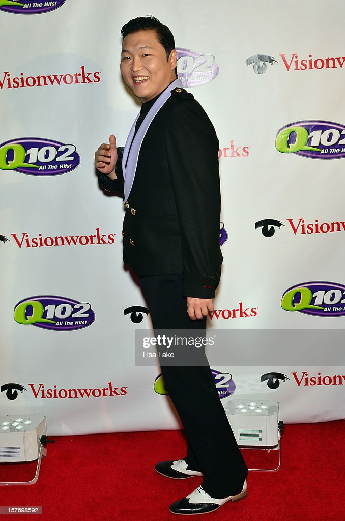 Singer PSY attends Q102's Jingle Ball 2012 presented by XFINITY, at Wells Fargo Center on December 5, 2012 in Philadelphia.