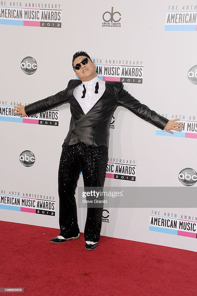 Singer Psy attends the 40th Anniversary American Music Awards held at Nokia Theatre L.A. Live on November 18, 2012 in Los Angeles, California.