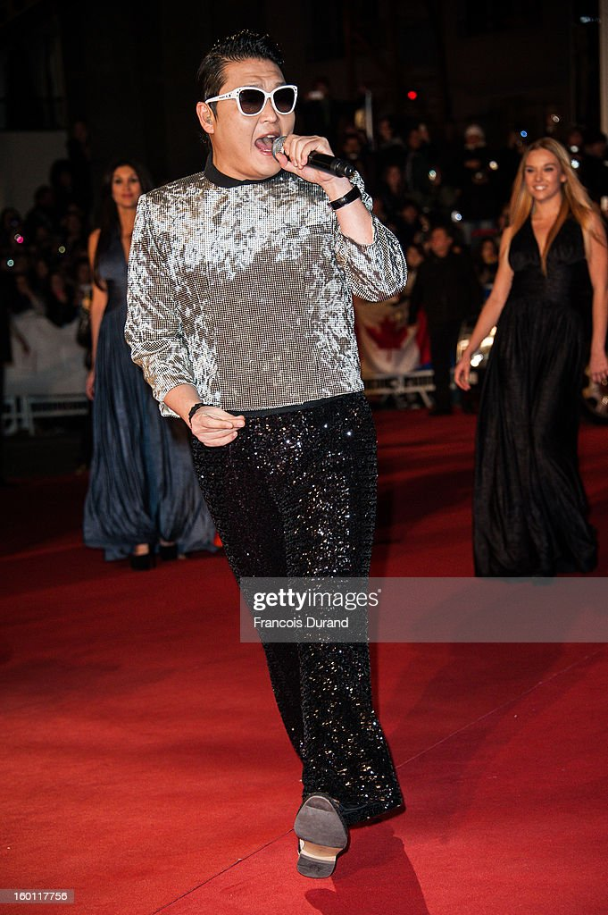 Singer Psy attends the NRJ Music Awards 2013 at Palais des Festivals on January 26, 2013 in Cannes, France.