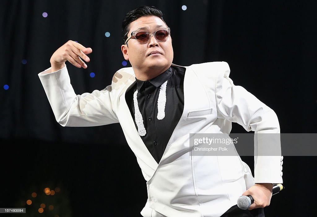 Singer Psy performs onstage during KIIS FM's 2012 Jingle Ball at Nokia Theatre L.A. Live on December 3, 2012 in Los Angeles, California.