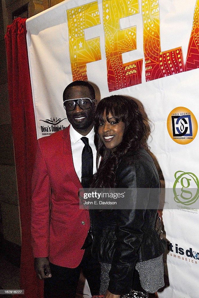 Singer Q Parker and Sharonda Parker attends the 'Fela!' Opening Night at The Fox Theatre on February 28, 2013 in Atlanta, Georgia.