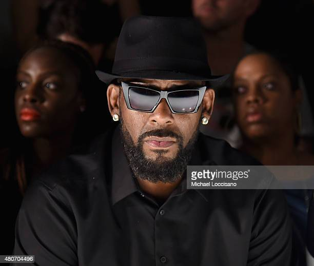 Singer R Kelly attends the Ovadia Sons front row during New York Fashion Week Men's S/S 2016 at Skylight Clarkson Sq on July 14 2015 in New York City