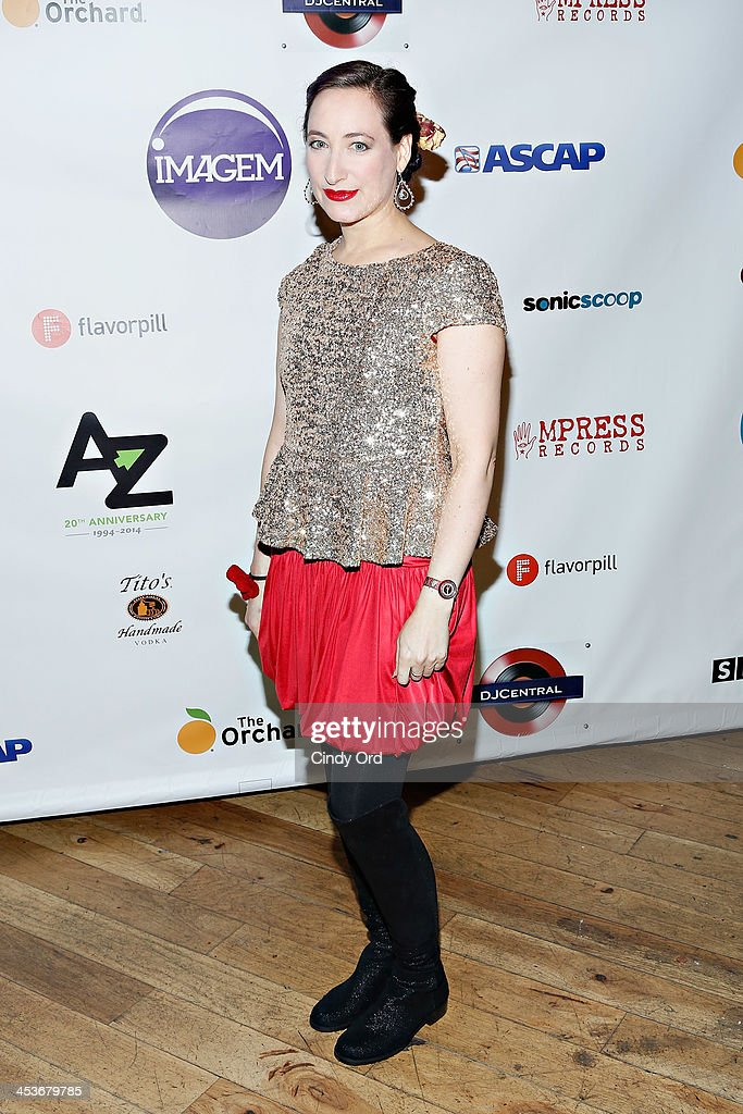 Singer Rachael Sage attends the Women In Music presents the 2013 holiday party at Le Poisson Rouge on December 4, 2013 in New York City.