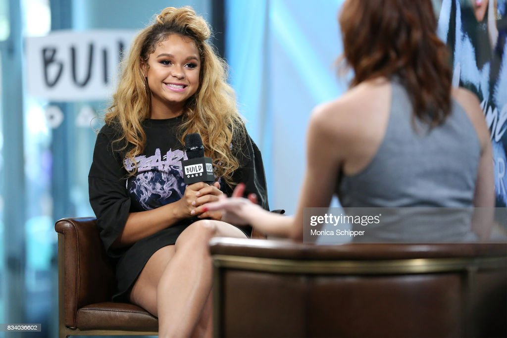 Singer Rachel Crow discusses her new dance-floor ready single, 'Dime' and her role in the upcoming Transformers spin-off at Build Studio on August 17, 2017 in New York City.