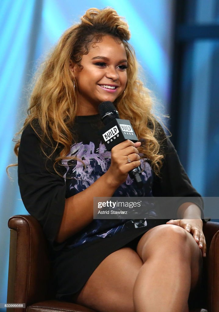 Singer Rachel Crow discusses her upcoming projects at Build Studio on August 17, 2017 in New York City.