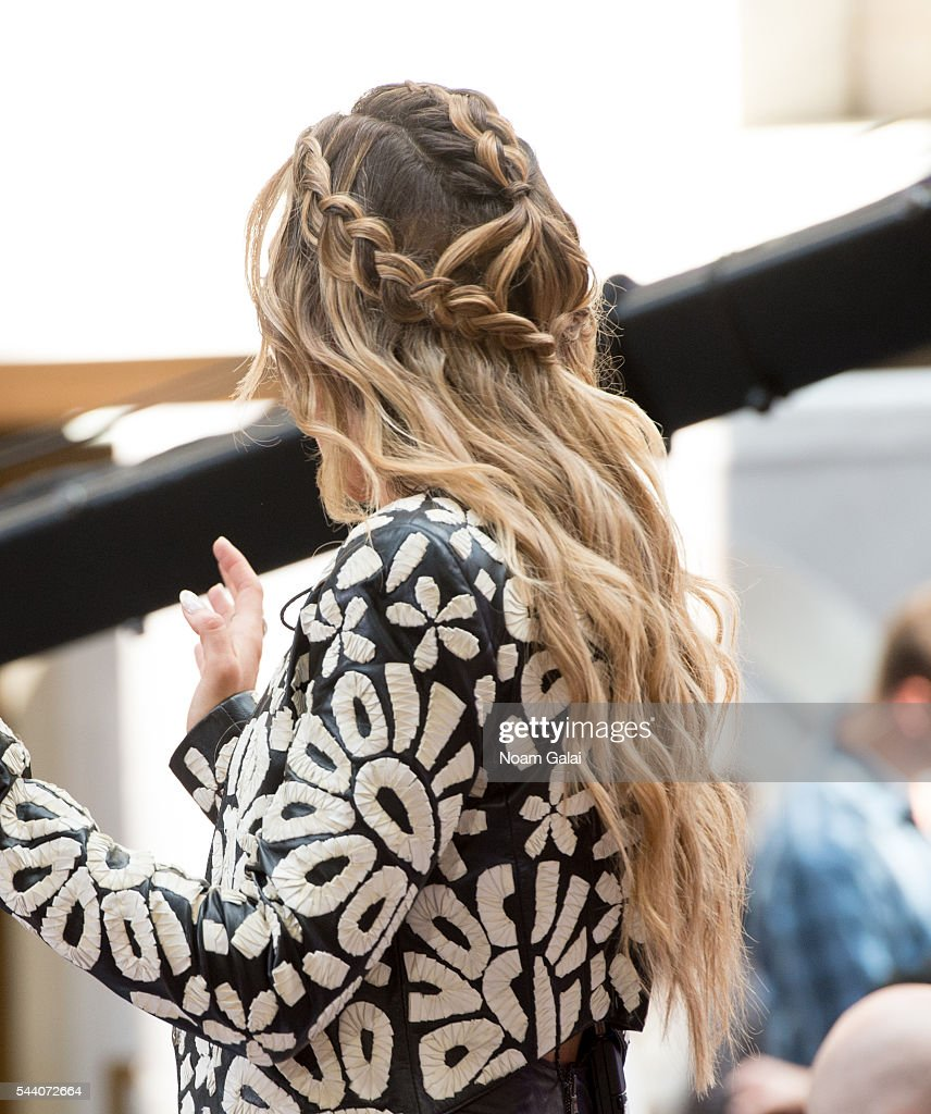 Singer <a gi-track='captionPersonalityLinkClicked' href=/galleries/search?phrase=Rachel+Platten&family=editorial&specificpeople=6972204 ng-click='$event.stopPropagation()'>Rachel Platten</a>, hair detail, performs on NBC's 'Today' at Rockefeller Plaza on July 1, 2016 in New York City.