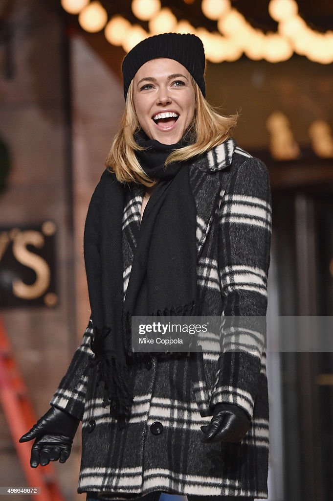 Singer Rachel Platten performs at the 89th Annual Macy's Thanksgiving Day Parade Rehearsals - Day 2 on November 24, 2015 in New York City.