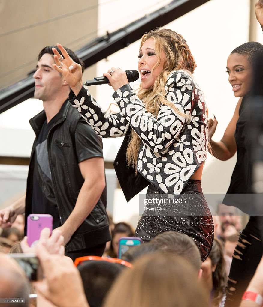 Singer Rachel Platten performs on NBC's 'Today' at Rockefeller Plaza on July 1, 2016 in New York City.