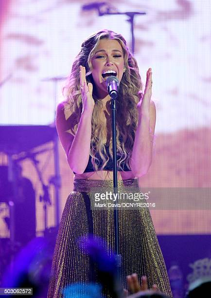 Singer Rachel Platten performs onstage at Dick Clark's New Year's Rockin' Eve with Ryan Seacrest 2016 on December 31 2015 in Los Angeles CA