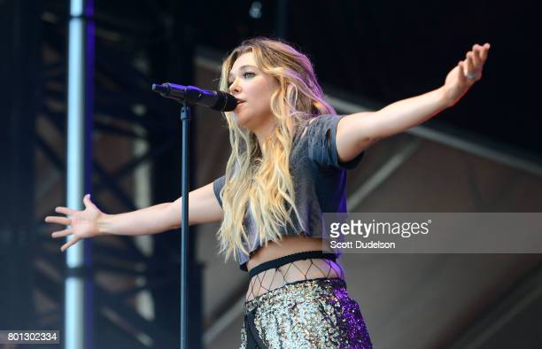 Singer Rachel Platten performs onstage during Arroyo Seco Weekend at Brookside Golf Course on June 25 2017 in Pasadena California