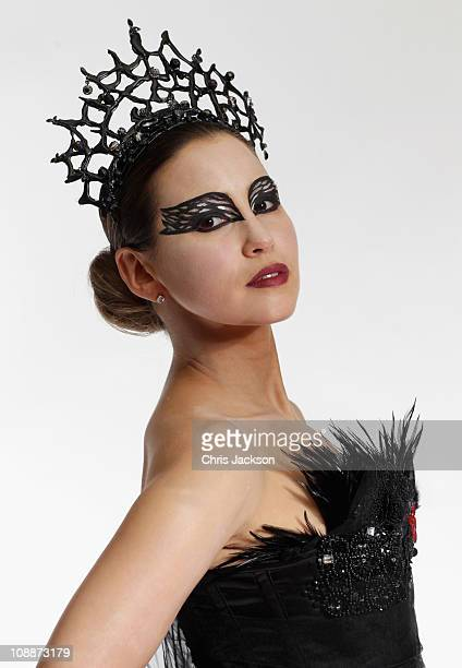 Singer Rachel Stevens poses for a photograph as she recreates Natalie Portman's iconic look from the film 'Black Swan' at the Gore Hotel on February...