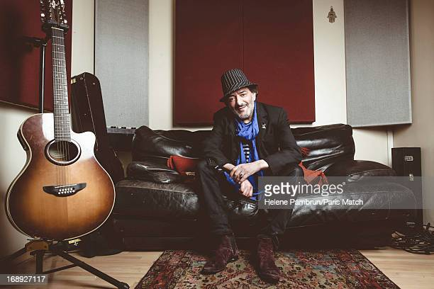 Singer Rachid Taha is photographed for Paris Match on April 16 2013 in Paris France