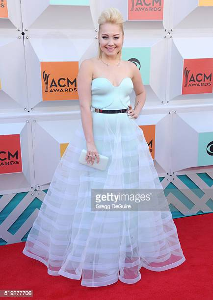 Singer RaeLynn arrives at the 51st Academy Of Country Music Awards at MGM Grand Garden Arena on April 3 2016 in Las Vegas Nevada