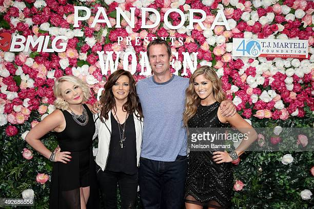 Singer RaeLynn singer Martina McBride cofounder of Pandora Radio Tim Westergren and singer Cassadee Pope attend Pandora Presents Women In Country on...