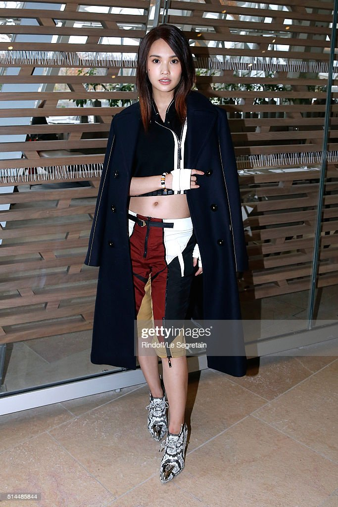 Singer Rainie Yang attends the Louis Vuitton show as part of the Paris Fashion Week Womenswear Fall/Winter 2016/2017. Held at Louis Vuitton Foundation on March 9, 2016 in Paris, France.