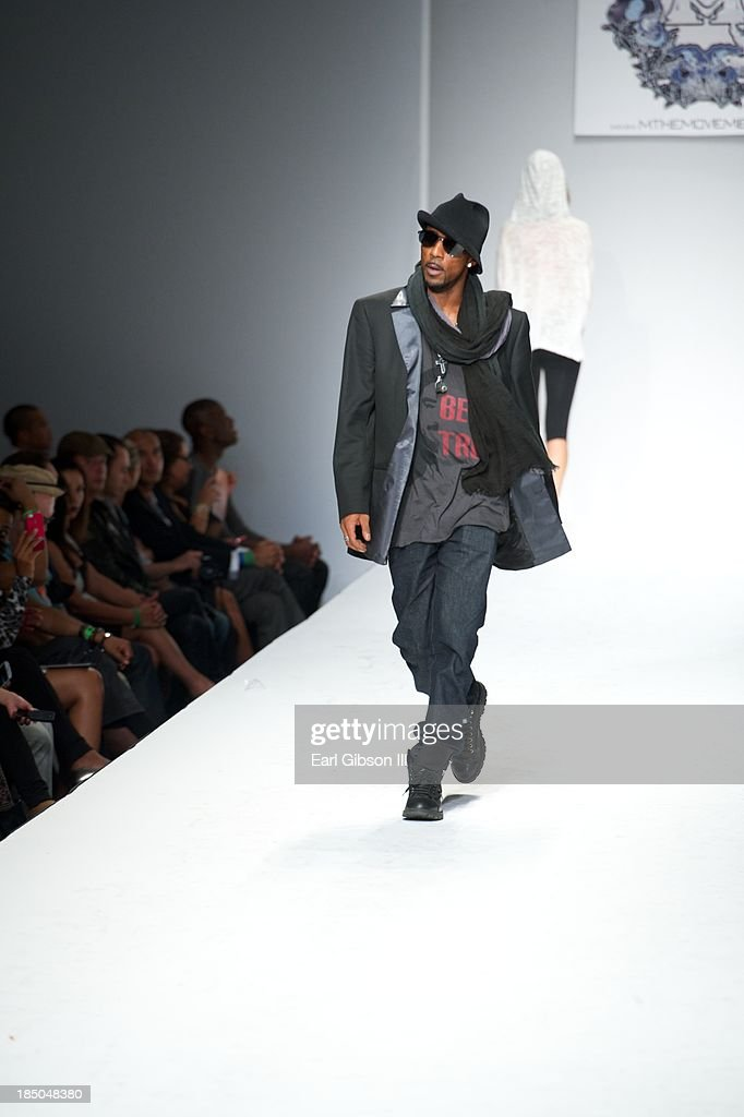 Singer Ralph Tresvant models during LA Fashion Weeek for the fashion line www.MTHEMOVEMENT.com on October 17, 2013 in Los Angeles, California.