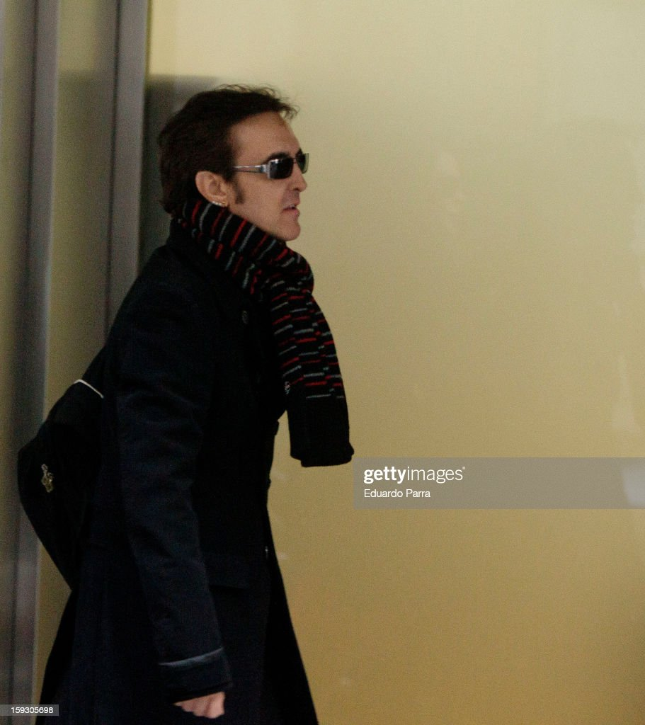 Singer Ramoncin Attends Court at national audience in Madrid on January 11, 2013 in Madrid, Spain.