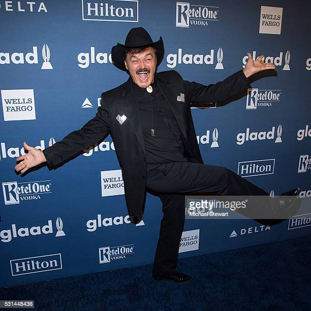Singer Randy Jones attends the 27th Annual GLAAD Media Awards at The Waldorf=Astoria on May 14 2016 in New York City