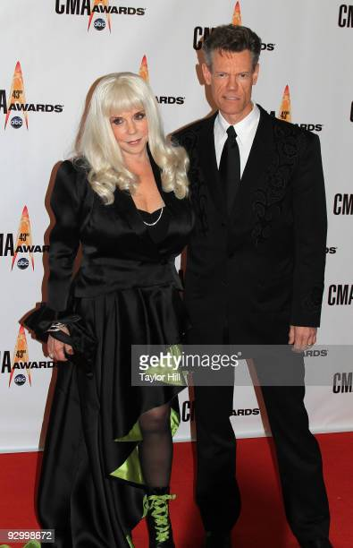 Singer Randy Travis and wife Lib Hatcher Travis attend the 43rd Annual CMA Awards at the Sommet Center on November 11 2009 in Nashville Tennessee