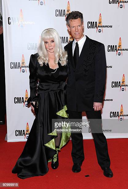 Singer Randy Travis and wife Lib Hatcher Travis attends the 43rd Annual CMA Awards at the Sommet Center on November 11 2009 in Nashville Tennessee