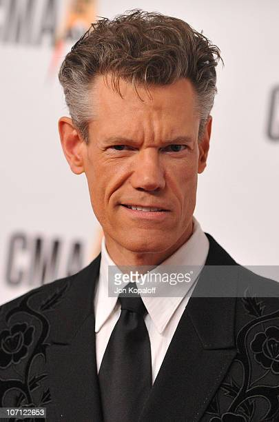 Singer Randy Travis arrives at the 43rd Annual CMA Awards at the Sommet Center on November 11 2009 in Nashville Tennessee