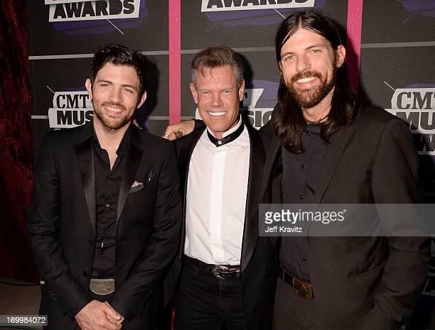 Singer Randy Travis joins Scott Avett and Seth Avett of The Avett Brothers at the 2013 CMT Music Awards at the Bridgestone Arena on June 5 2013 in...