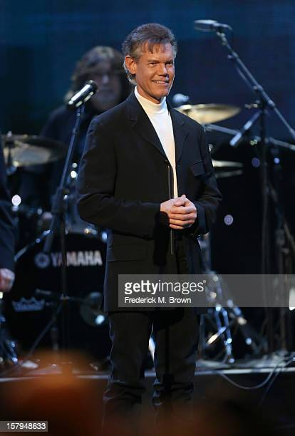 Singer Randy Travis performs onstage at the American Giving Awards presented by Chase held at the Pasadena Civic Auditorium on December 7 2012 in...
