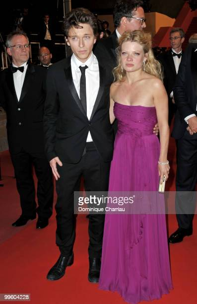 Singer Raphael and actress Melanie Thierry depart the 'The Princess of Montpensier' Premiere held at the Palais des Festivals during the 63rd Annual...