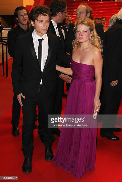 Singer Raphael and Melanie Thierry attend the 'The Princess of Montpensier' Premiere held at the Palais des Festivals during the 63rd Annual...
