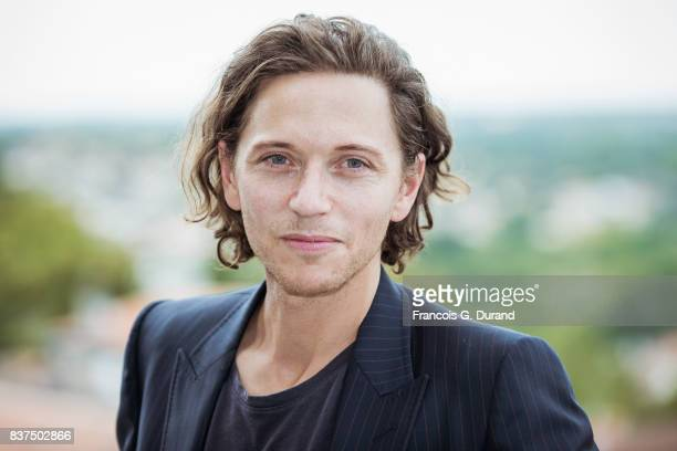 Singer Raphael attends the Jury photocall during the 10th Angouleme FrenchSpeaking Film Festival on August 22 2017 in Angouleme France