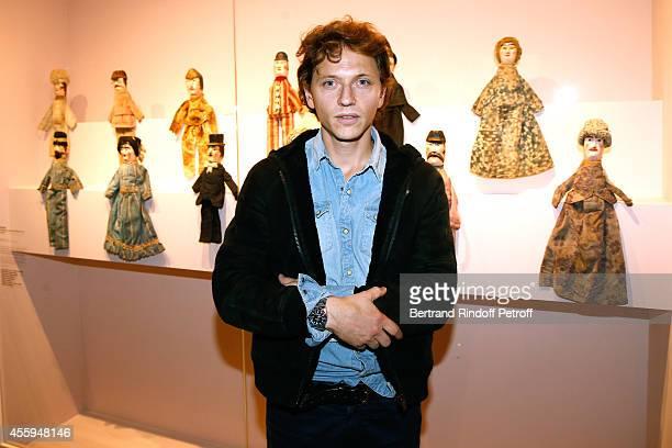 Singer Raphael attends the 'Marcel Duchamp La Peinture Meme' Exhibition Press Preview Held at Centre Pompidou on September 22 2014 in Paris France
